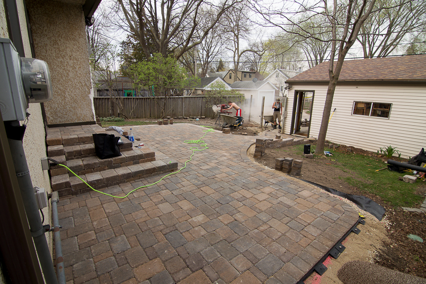 Once The Final Brick Is Laid, The Polymeric Sand Is Swept Into The Paver  Joints And Compacted Thoroughly And Carefully With A Plate Tamper.